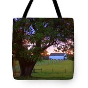 Sunset With Tree Tote Bag