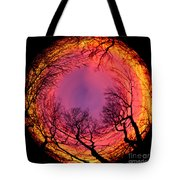 Sunset World Of Trees Tote Bag