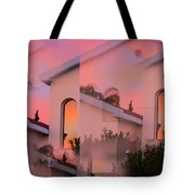 Sunsets On Houses Tote Bag
