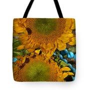Sunshine And Turquoise  Tote Bag