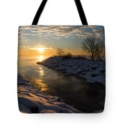 Sunshine On The Ice - Lake Ontario Toronto Canada Tote Bag