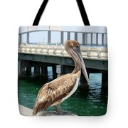Sunshine Skyway And Pelican Tote Bag
