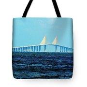 Sunshine Skyway Bridge Tote Bag