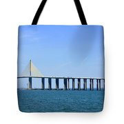 Sunshine Skyway Bridge II Tampa Bay Florida Usa Tote Bag