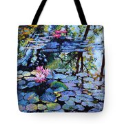 Sunspots On The Lilies Tote Bag