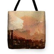 Sunsrise Over Brooklyn Bridge Tote Bag