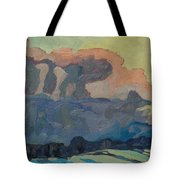Sunup On A Snowsquall Tote Bag