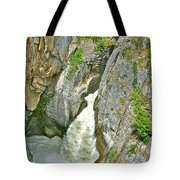 Sunwapta Falls Along  Icefields Parkway In Alberta Tote Bag