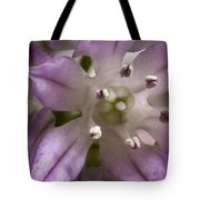 Super Close Up Of A Chive Flower Tote Bag