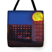 Super Moon In Halifax Nova Scotia Tote Bag