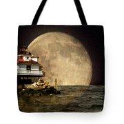 Super Moon Lighthouse Tote Bag