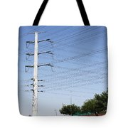 Super Power Pole And Wires Tote Bag