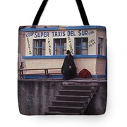 Super Taxi Stand Tote Bag