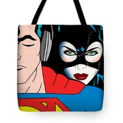 Superman And Catwoman  Tote Bag by Mark Ashkenazi