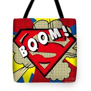 Superman Boom  Tote Bag