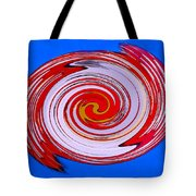 Superman In Motion Tote Bag