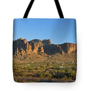 Superstition Mountain In The Evening Sun Tote Bag
