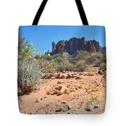 Superstition Mountains Tote Bag