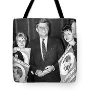 Supporters Greet Kennedy Tote Bag