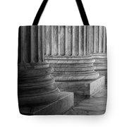 Supreme Court Columns Black And White Tote Bag