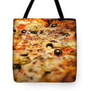 Supreme Meat Works Pizza  Sliced And Ready To Eat Tote Bag