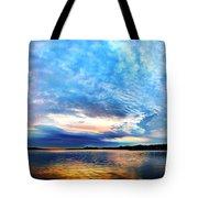 Sureal Pewaukee Lake Sunrise Tote Bag