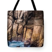 Surf And Cliff Tote Bag