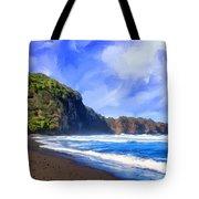 Surf At Pololu Valley Big Island Tote Bag