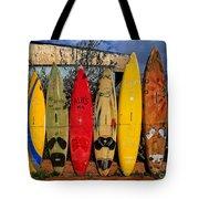 Surf Board Fence Maui Hawaii Tote Bag