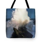 Surf Erupts On The Rocks At Shore Acres Tote Bag