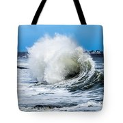 Surf Is Up At York Beach Tote Bag
