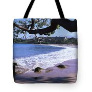 Surf On The Beach, Mauna Kea, Hawaii Tote Bag