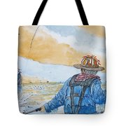 Surf Trout Fishing Tote Bag