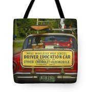 Surfboard Car With Bongos Tote Bag