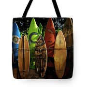 Surfboard Fence 4 Tote Bag