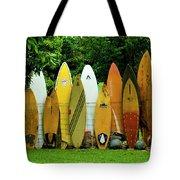 Surfboard Fence Maui Tote Bag