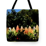 Surfboard Fence - Right Side Tote Bag