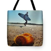 Surfer And Shell Hatteras Lighthouse 3 10/1 Tote Bag