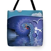 Surfer Boy - Ride The Waves Tote Bag