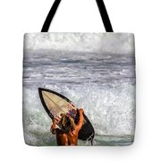 Surfer Catch The Wave Tote Bag