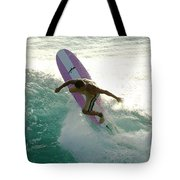 Surfer Cutting Back Tote Bag