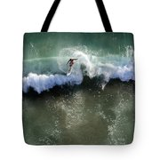 Surfer From The Sky Tote Bag