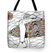 Surfer Girl Tote Bag by Susan Claire