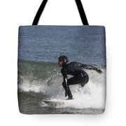 Surfer Hitting The Curl Tote Bag