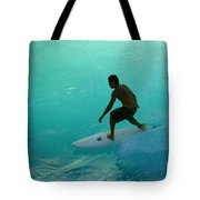Surfer In The Zone Tote Bag