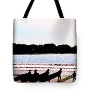 Surfer Parade Tote Bag