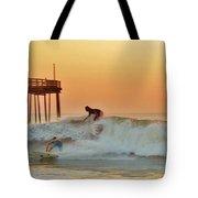 Surfer Sunrise 9 10/2 Tote Bag