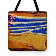 Surfer The Other White Meat Hand Painted By Mark Lemmon Tote Bag