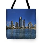 Surfers City Skyline Day Tote Bag