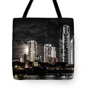 Surfers Paradise By Night Tote Bag